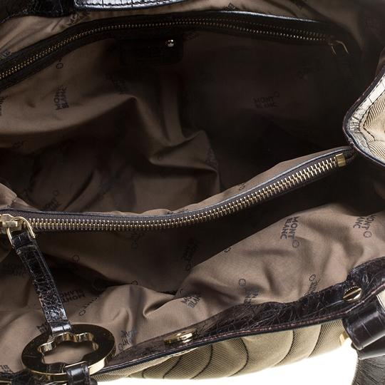 Montblanc Canvas Nylon Tote in Beige Image 7