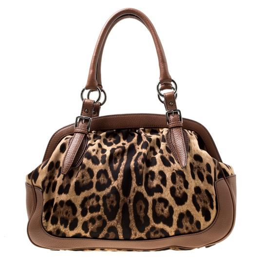 Dolce&Gabbana Fabric Leather Satchel in Brown Image 1