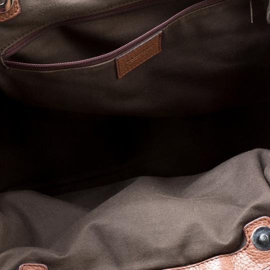 Dolce&Gabbana Fabric Leather Satchel in Brown Image 6