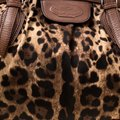 Dolce&Gabbana Fabric Leather Satchel in Brown Image 9