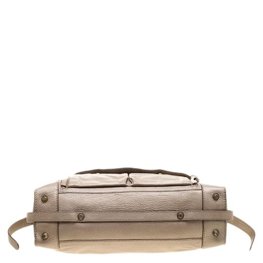 Chloé Leather Metallic Tote in Beige Image 4