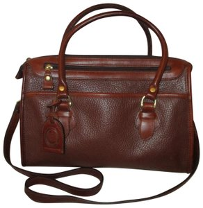 Liz Claiborne Vintage Pebbled Leather Shoulder Oneam002 Satchel in brown