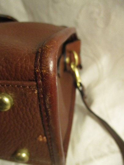 Liz Claiborne Vintage Pebbled Leather Shoulder Oneam002 Satchel in brown Image 10