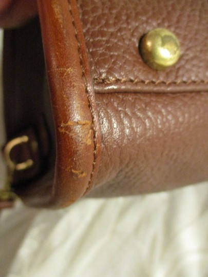 Liz Claiborne Vintage Pebbled Leather Shoulder Oneam002 Satchel in brown Image 11