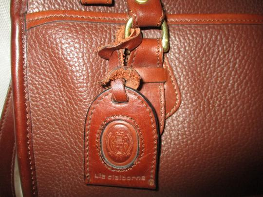 Liz Claiborne Vintage Pebbled Leather Shoulder Oneam002 Satchel in brown Image 3