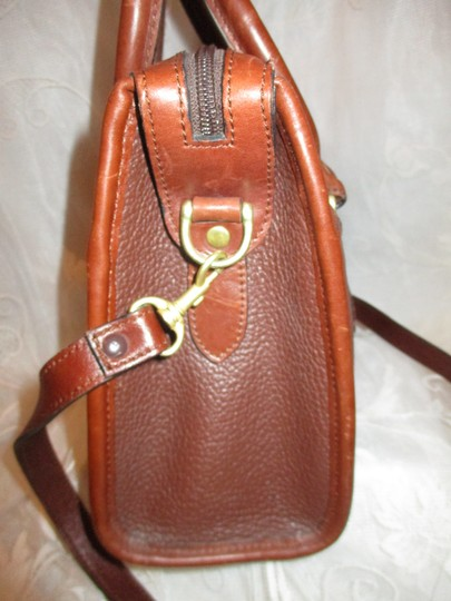 Liz Claiborne Vintage Pebbled Leather Shoulder Oneam002 Satchel in brown Image 5