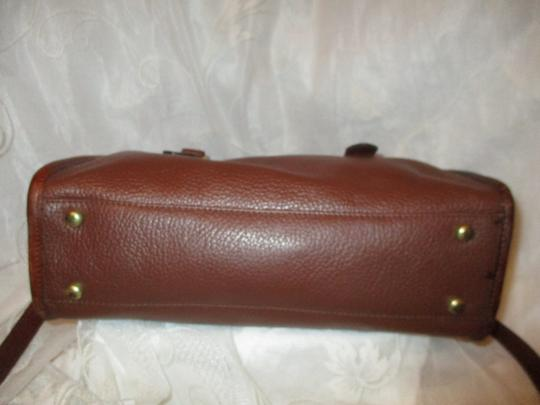 Liz Claiborne Vintage Pebbled Leather Shoulder Oneam002 Satchel in brown Image 6