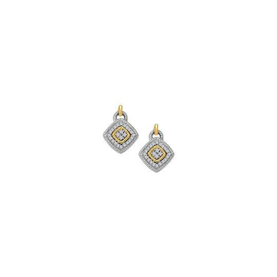 Preload https://img-static.tradesy.com/item/25825352/white-april-birthstone-diamond-square-earrings-in-two-tone-gold-075-ct-tdw-ring-0-0-540-540.jpg