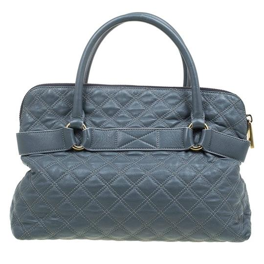 Marc Jacobs Leather Fabric Tote in Grey Image 1