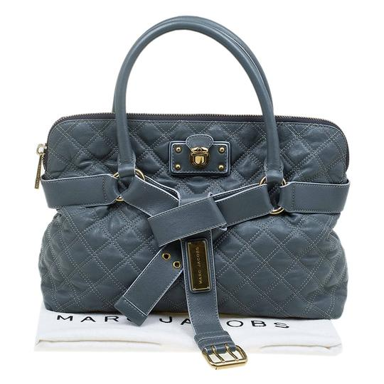 Marc Jacobs Leather Fabric Tote in Grey Image 11