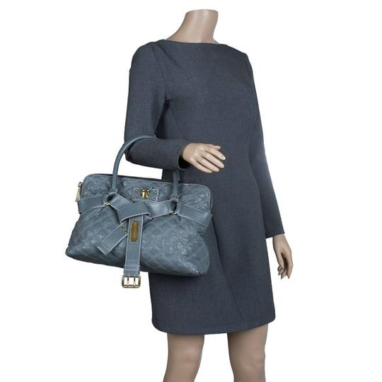 Marc Jacobs Leather Fabric Tote in Grey Image 2