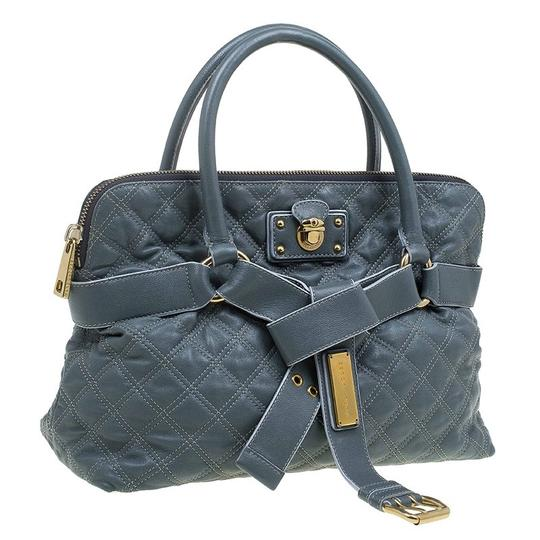 Marc Jacobs Leather Fabric Tote in Grey Image 3