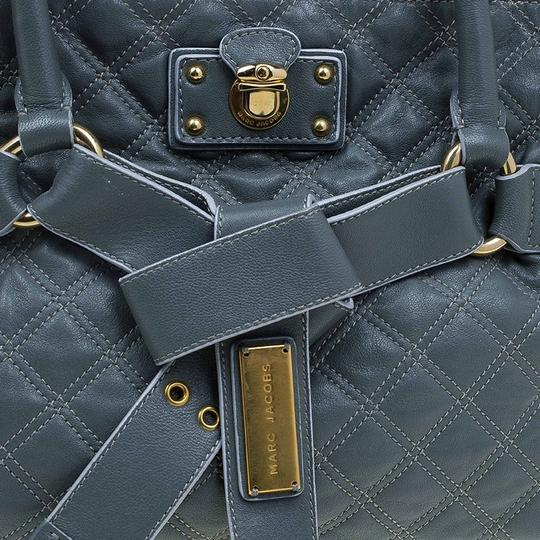 Marc Jacobs Leather Fabric Tote in Grey Image 9