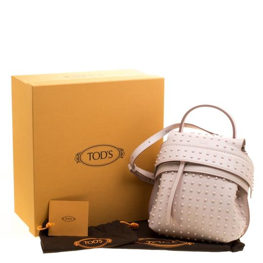 Tod's Leather Suede Backpack Image 11