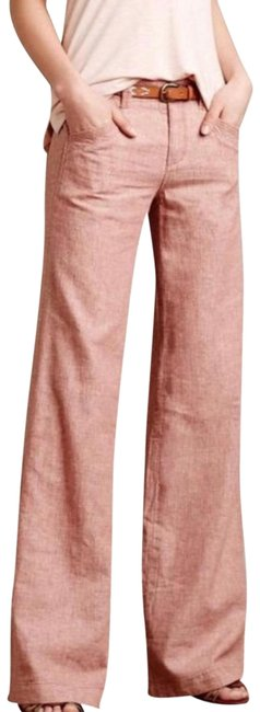 Anthropologie Wide Leg Pants Coral Image 0