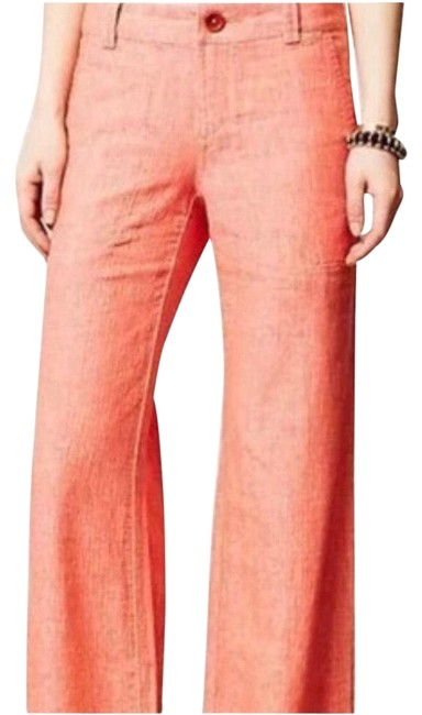 Anthropologie Wide Leg Pants Coral Image 1