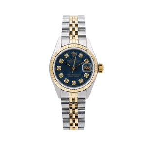Rolex Rolex Datejust 6917 26MM Blue Diamond Dial With Two Tone Bracelet