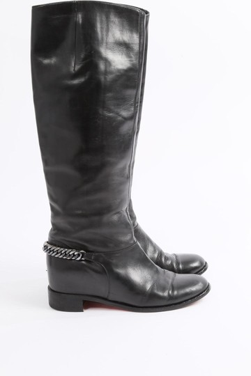 Christian Louboutin Knee High Winter Black Boots Image 1
