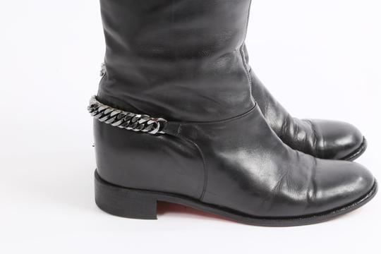 Christian Louboutin Knee High Winter Black Boots Image 2