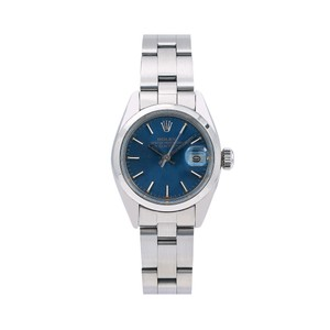 Rolex Rolex Oyster Perpetual Date 6916 26MM Blue Dial With Stainless Steel
