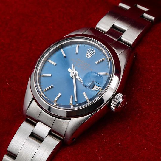 Rolex Rolex Oyster Perpetual Date 6916 26MM Blue Dial With Stainless Steel Image 1