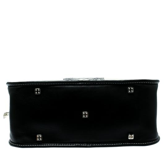 Loewe Fabric Suede Leather Satchel in White Image 6