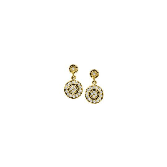 Preload https://img-static.tradesy.com/item/25825499/yellow-april-birthstone-diamonds-round-halo-earrings-in-14k-gold075-c-ring-0-0-540-540.jpg