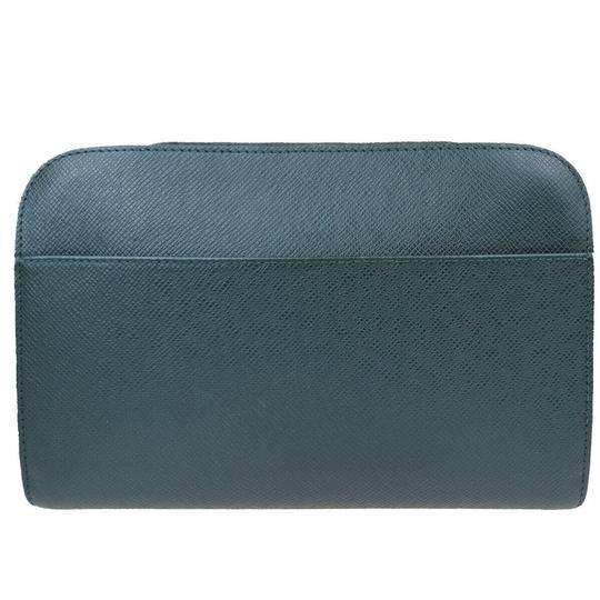Louis Vuitton Made In France Green Clutch Image 3