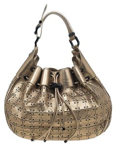 Burberry Leather Nylon Hobo Bag