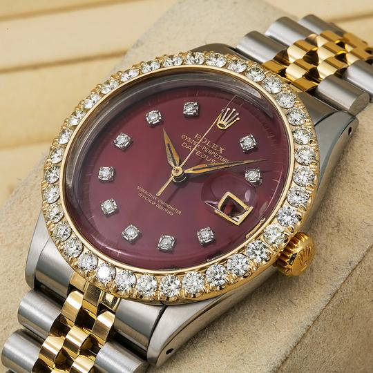 Rolex Rolex Datejust 6605 36MM Red Diamond Dial With 2.25 CT Diamonds Image 1