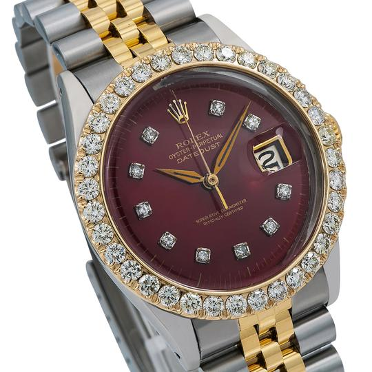 Rolex Rolex Datejust 6605 36MM Red Diamond Dial With 2.25 CT Diamonds Image 2