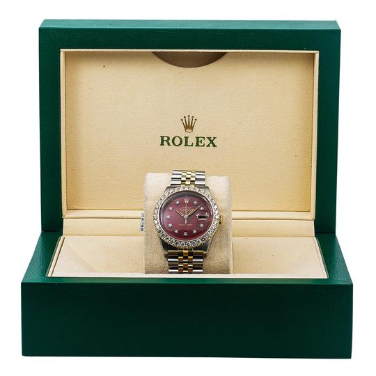 Rolex Rolex Datejust 6605 36MM Red Diamond Dial With 2.25 CT Diamonds Image 5