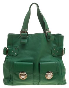 Marc Jacobs Leather Suede Tote in Green