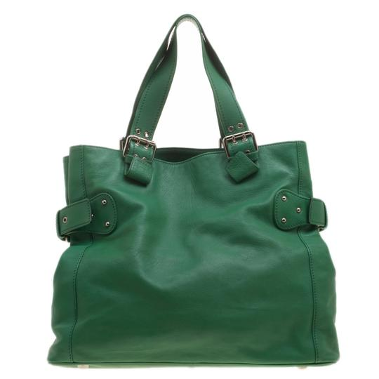 Marc Jacobs Leather Suede Tote in Green Image 1
