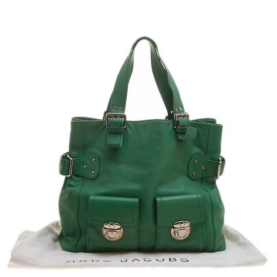 Marc Jacobs Leather Suede Tote in Green Image 10
