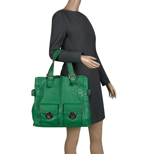 Marc Jacobs Leather Suede Tote in Green Image 2