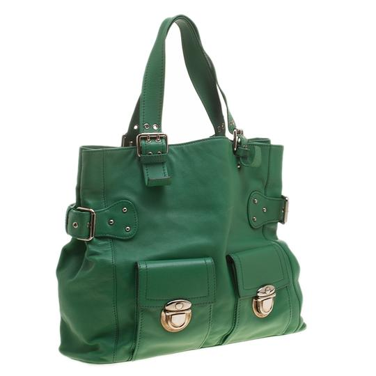 Marc Jacobs Leather Suede Tote in Green Image 3