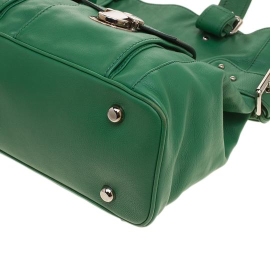 Marc Jacobs Leather Suede Tote in Green Image 5