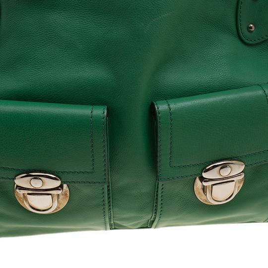 Marc Jacobs Leather Suede Tote in Green Image 6