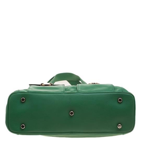 Marc Jacobs Leather Suede Tote in Green Image 7