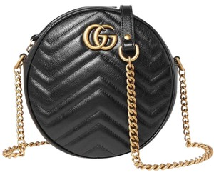 Gucci Marmont Gg Logo Round Cross Body Bag