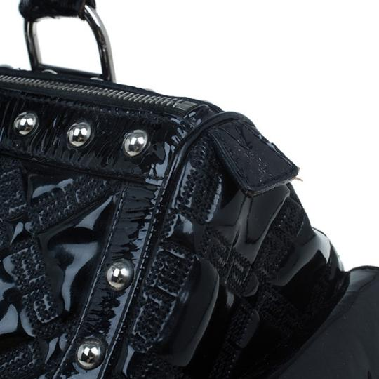 Versace Leather Fabric Satchel in Black Image 5