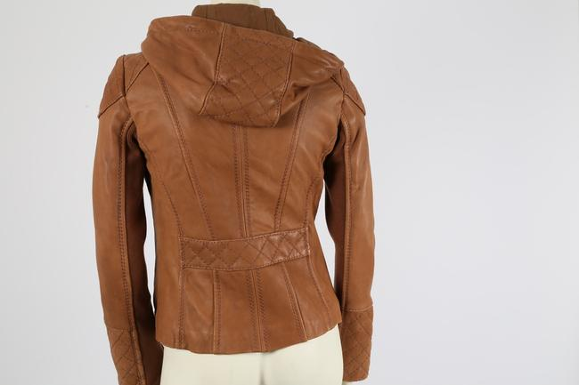 Michael Kors Casual Camel Leather Jacket Image 4