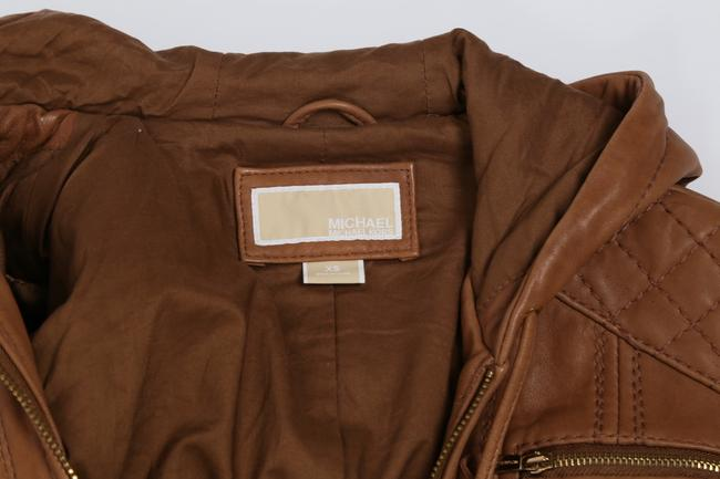 Michael Kors Casual Camel Leather Jacket Image 7