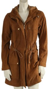Michael Kors Casual Camel Leather Jacket