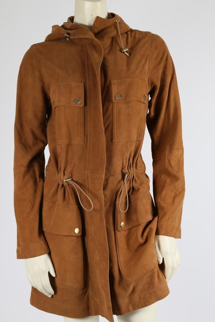Michael Kors Casual Camel Leather Jacket Image 2
