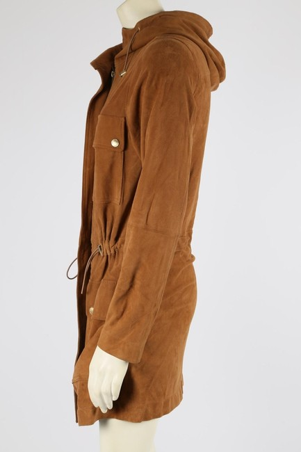 Michael Kors Casual Camel Leather Jacket Image 5