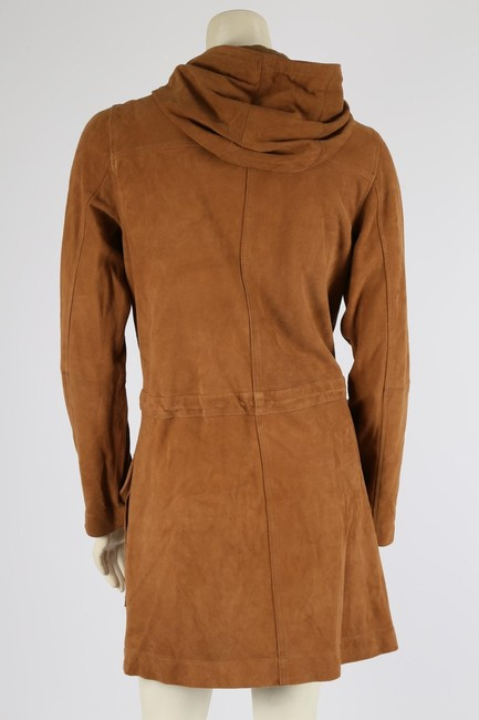 Michael Kors Casual Camel Leather Jacket Image 6