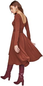 Warm nutmeg Maxi Dress by ASTR Midi Knit Brown Zara