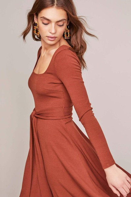 Warm nutmeg Maxi Dress by ASTR Midi Knit Brown Zara Image 4